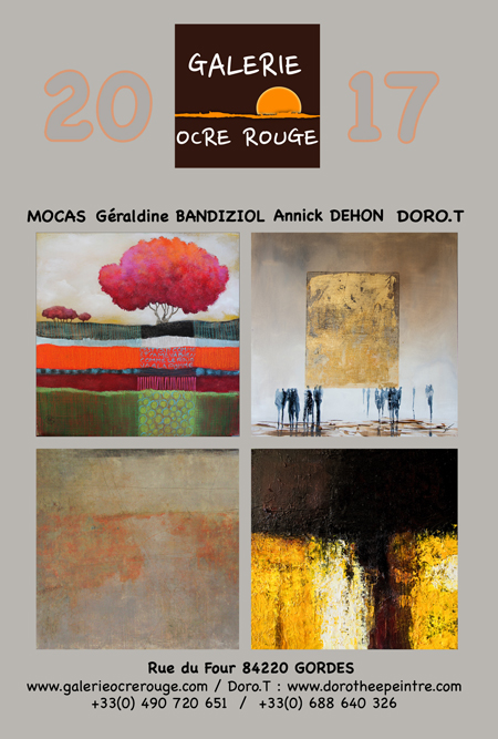 exposition galerie ocre rouge gordes