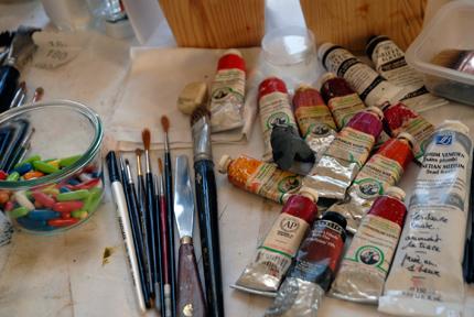 Superbe Tube De Peinture, Huile, Pinceau, Bonbon